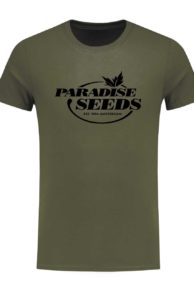 New Logo Shirt Army front   Paradise Seeds